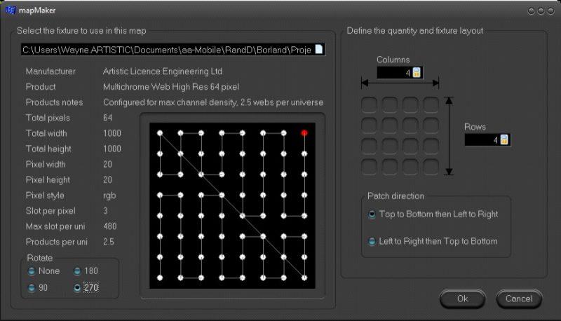 dVnet mapMaker screen