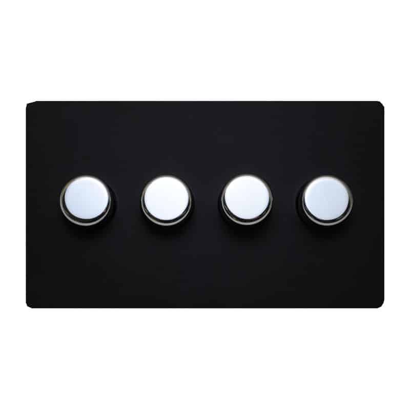 matisse d4 with black cover plate and chrome effect dials