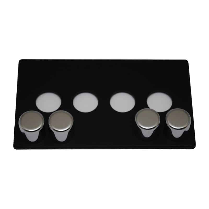 matisse d4 black cover plate with chrome effect dials