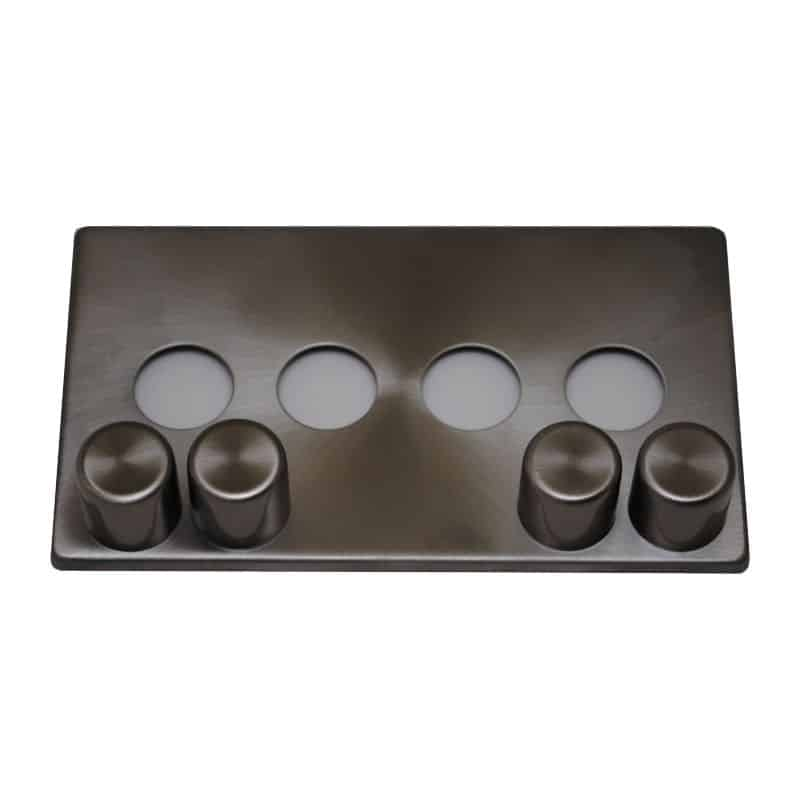 matisse d4 brushed steel effect cover plate
